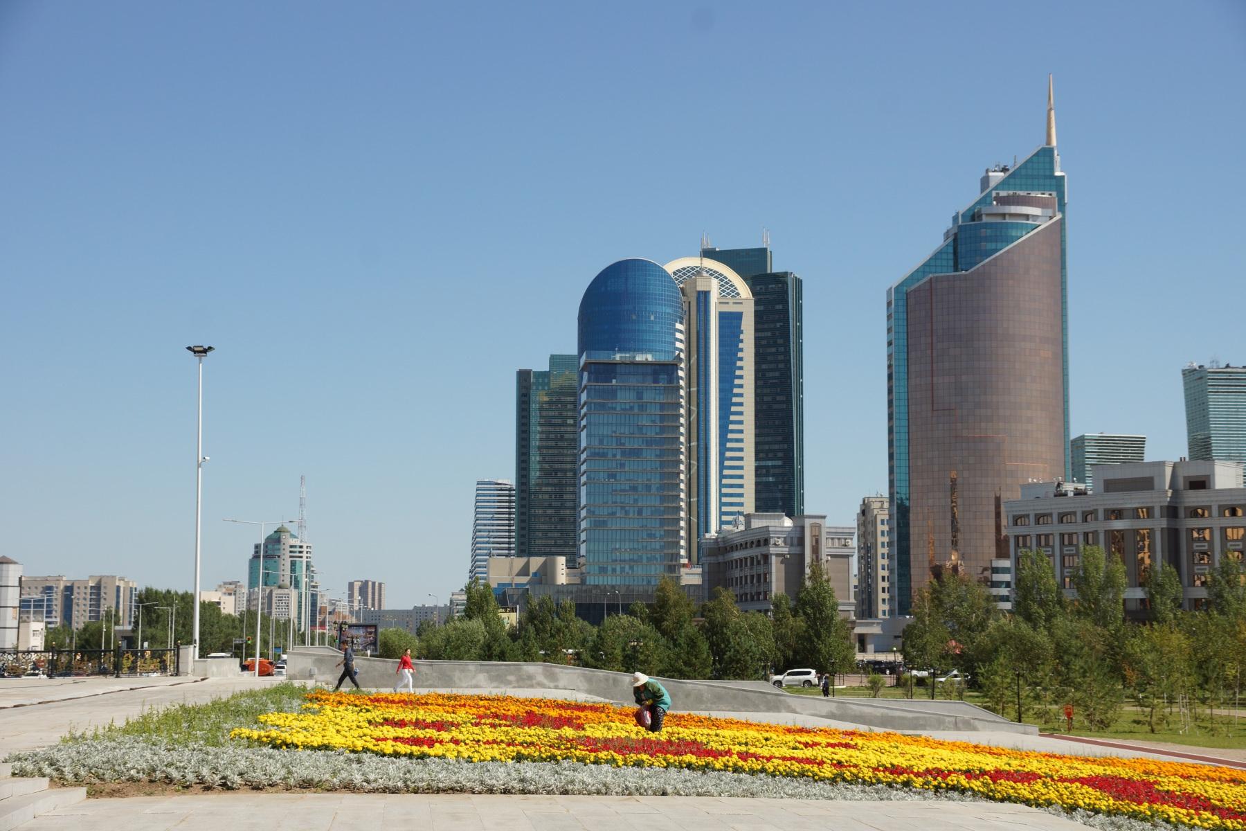 Вид на город Астана